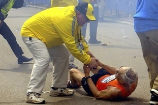 Helping Hands at the Boston Marathon